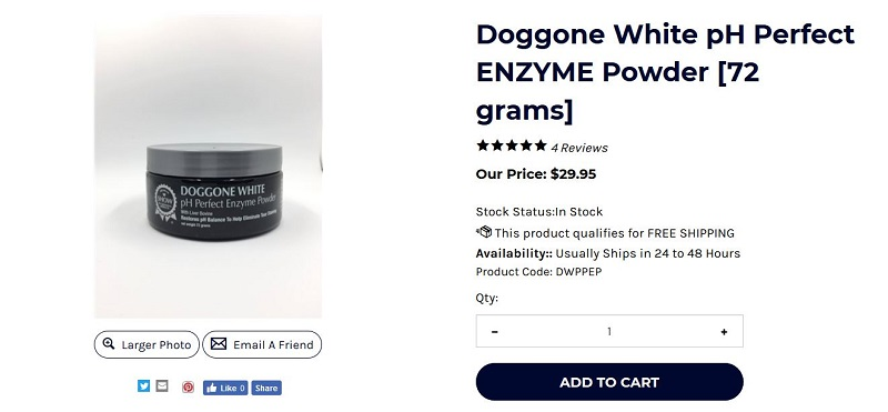 Buy Doggone White pH Perfect Enzyme Powder